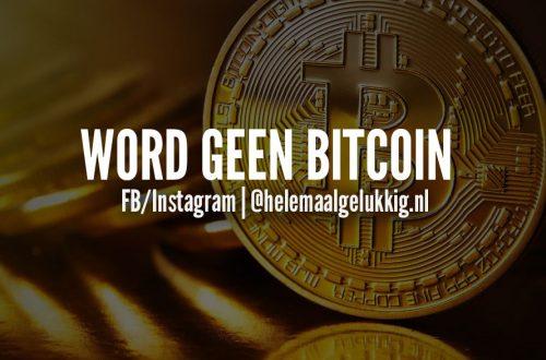 Trainingssessie februari deel 2 – Word geen Bitcoin